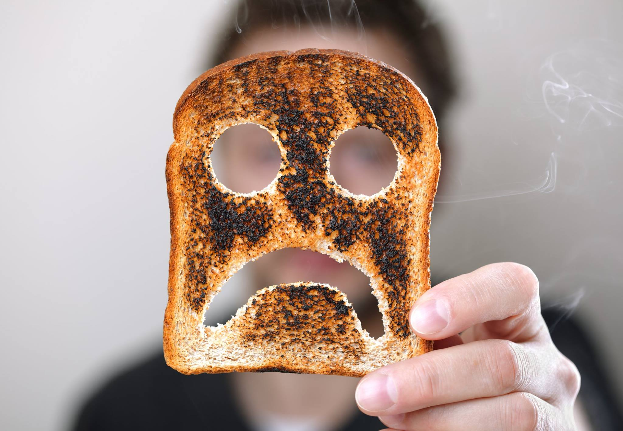 burnt toast sad face