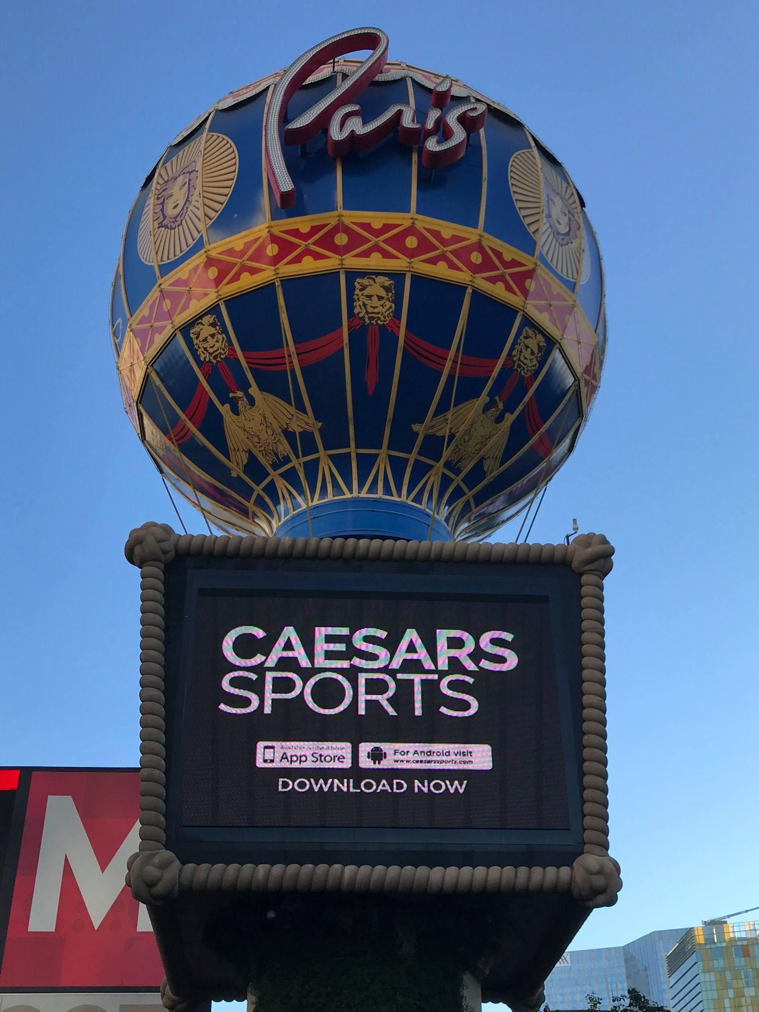 Photograph of Caesar Sports App in Las Vegas