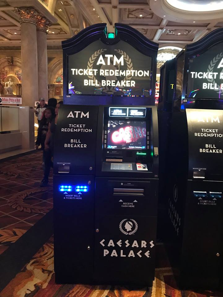 Caesars Palace ATM Ticket Redemption