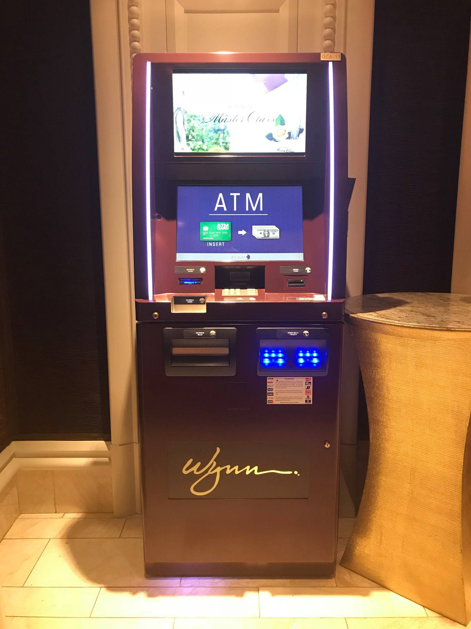 Photograph of ATM machine at Wynn Hotel