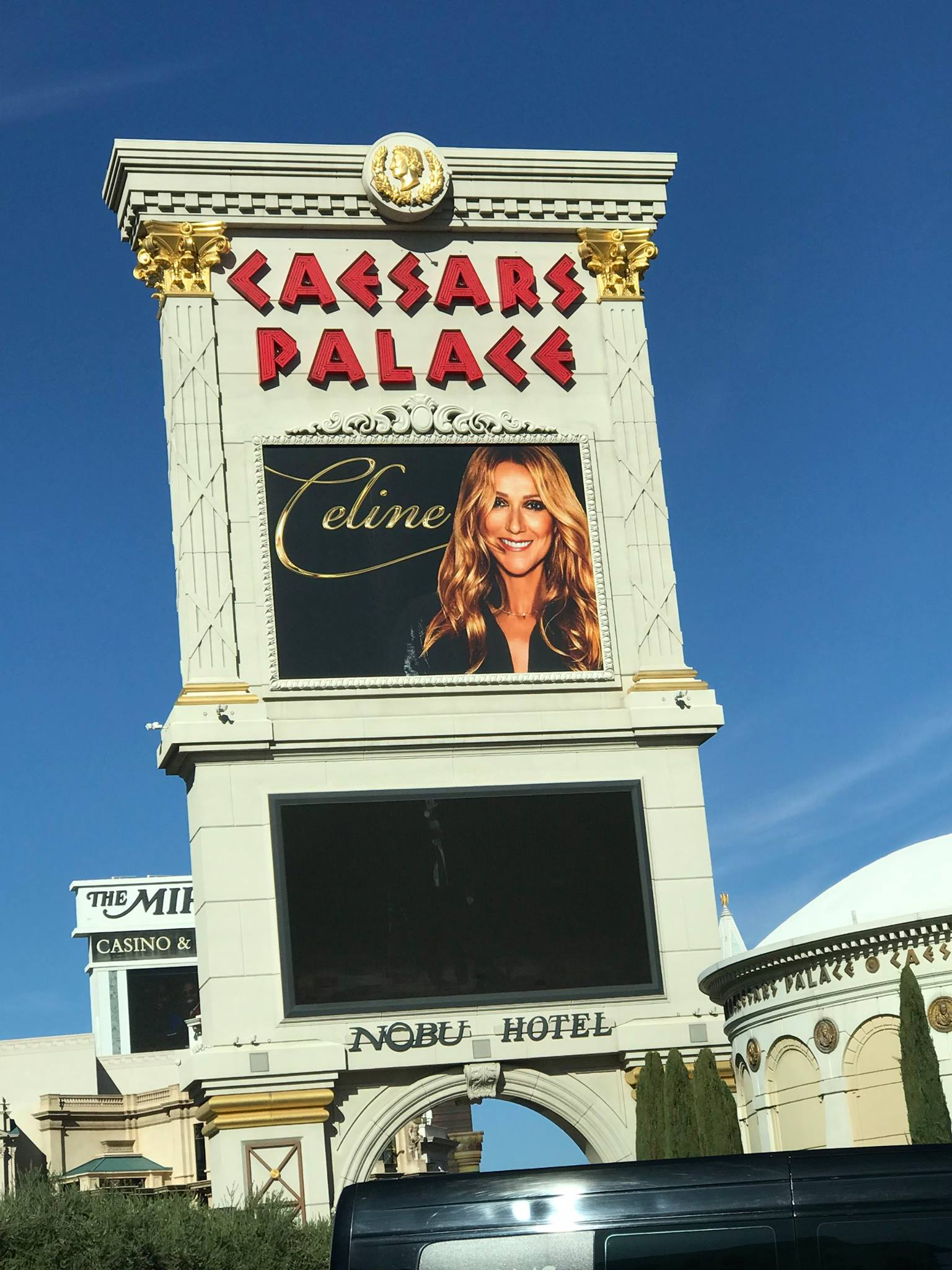 Photograph of Caesars Palace featuring Celine