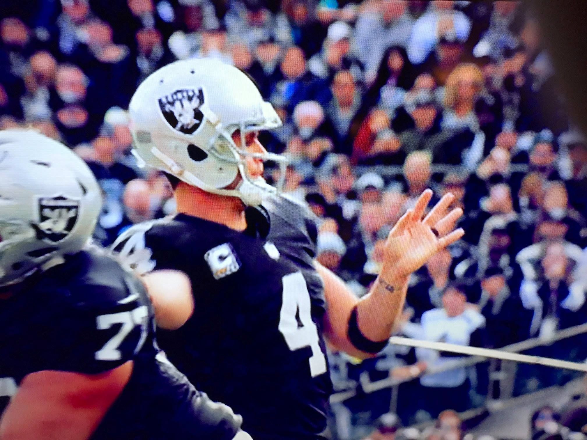 Photograph of Raiders quarterback
