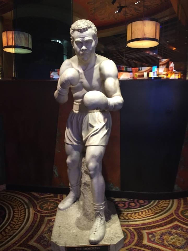 Photograph of boxer Joe Louis at Caesars Palace