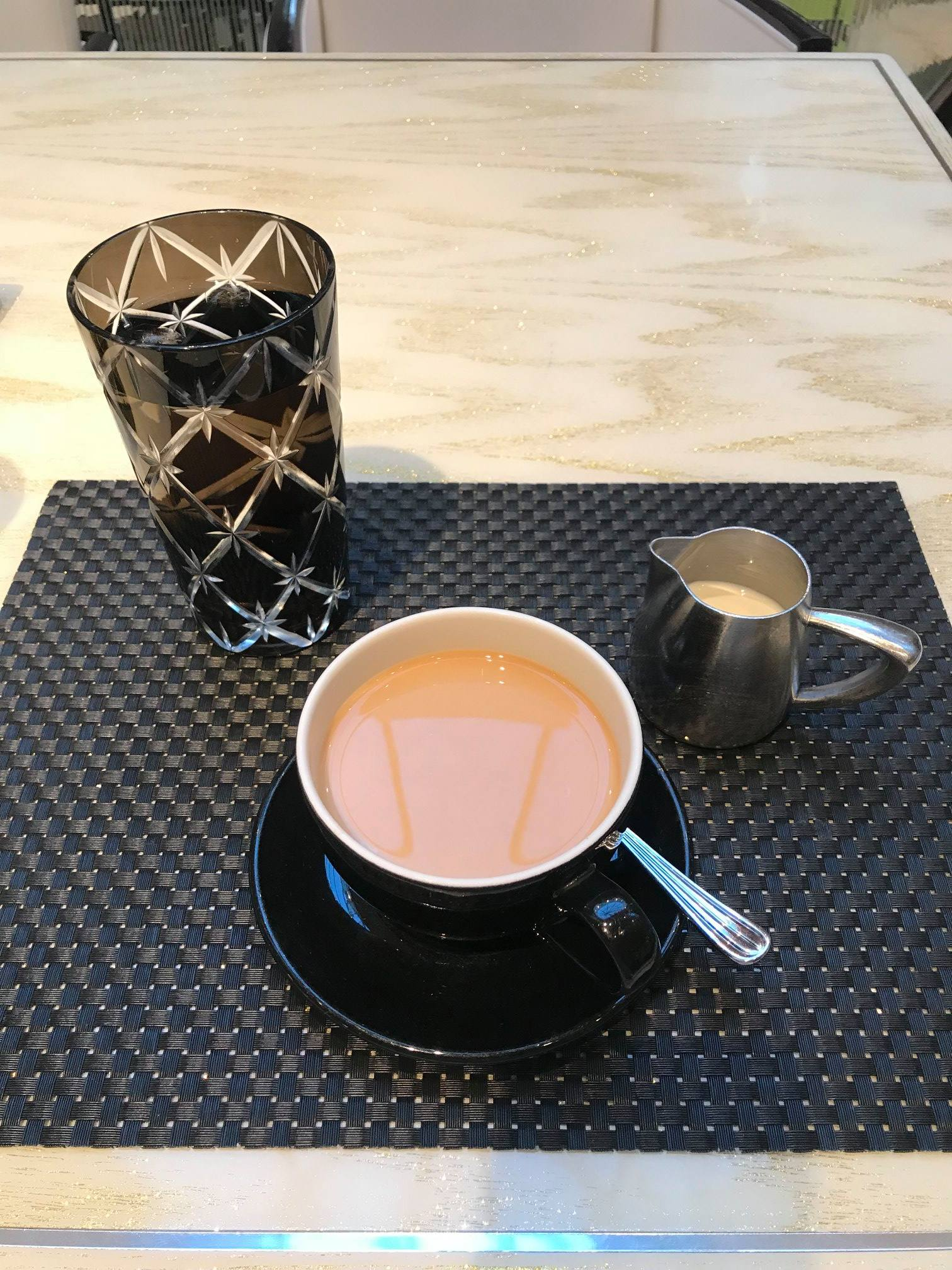 Photograph of coffee and glassware
