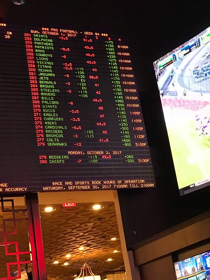 Photograph of sportsbook oct 1