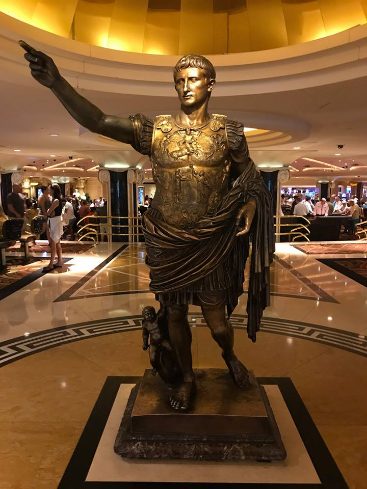 Photograph of statue caesar