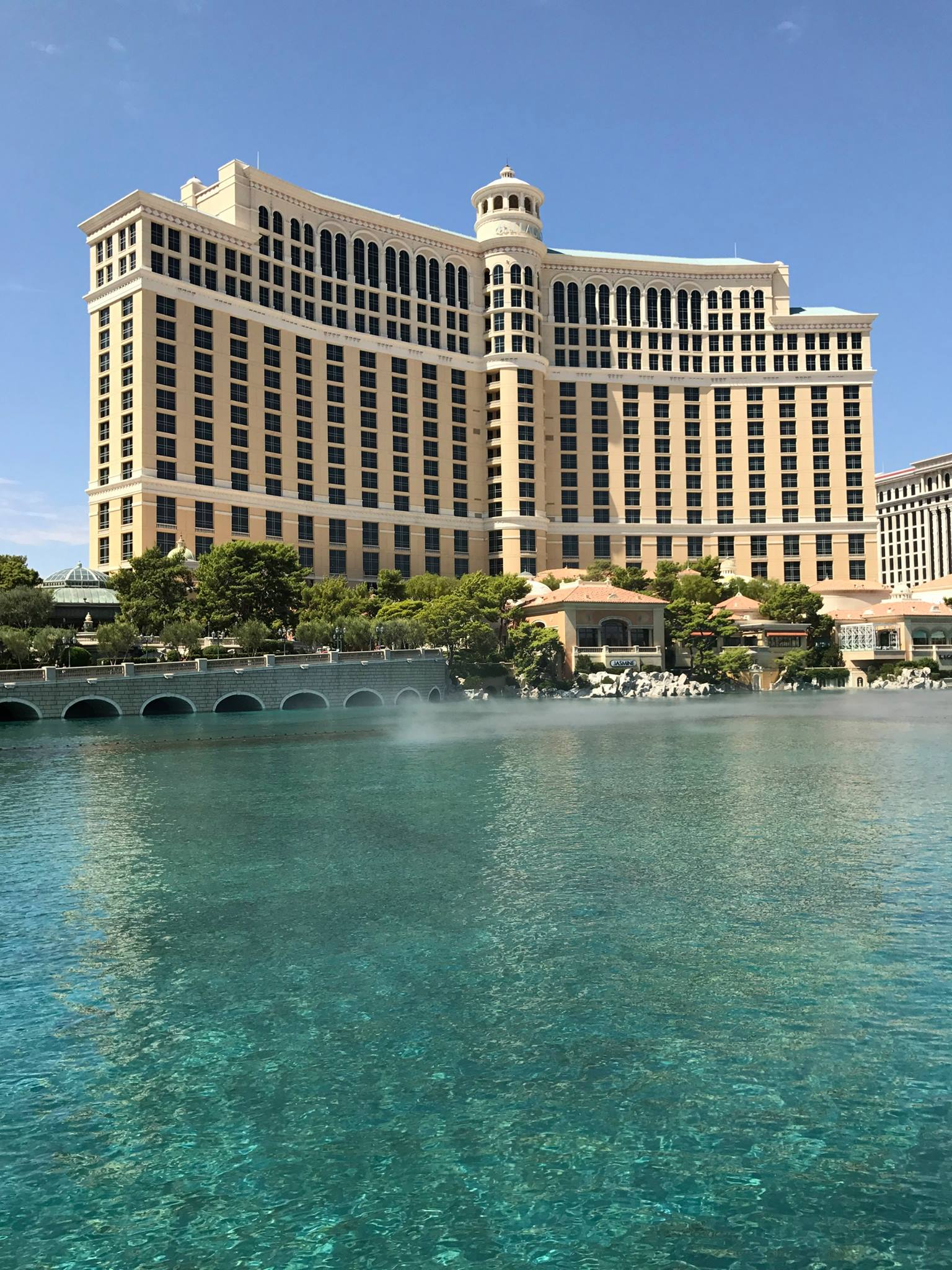 Picture of Bellagio hotel and lake