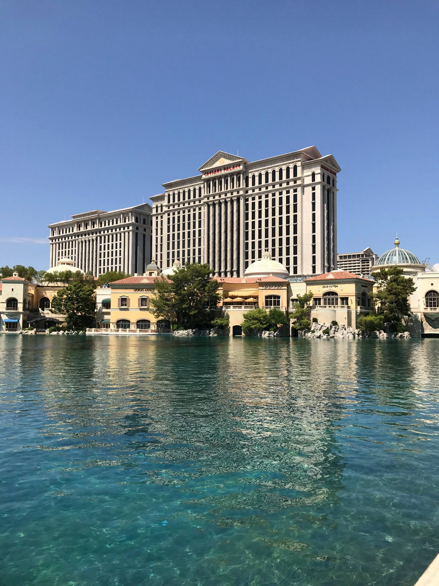 Picture of Caesars Palace hotel and lagoon