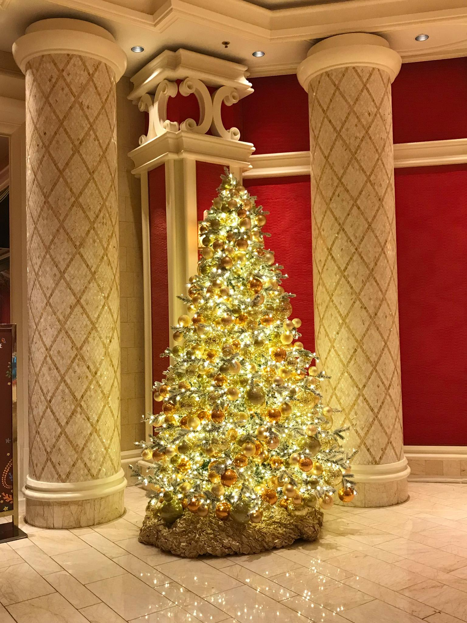 Picture of Christmas tree at Wynn