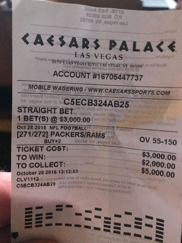 caesars palace betting receipt