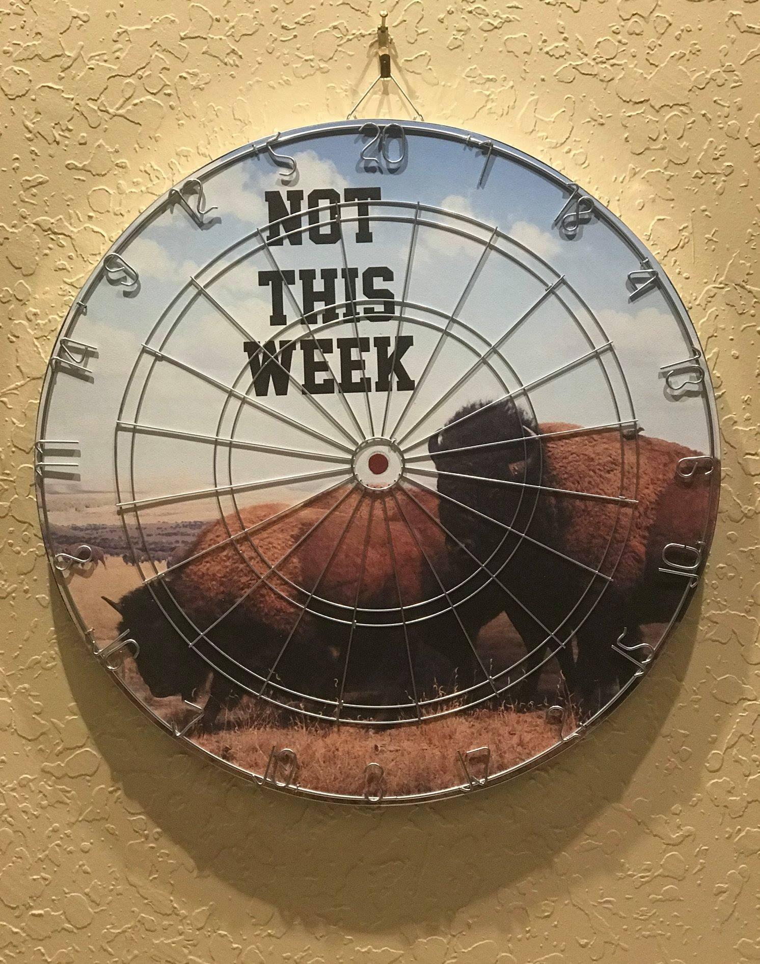 dart board of buffalos not this week