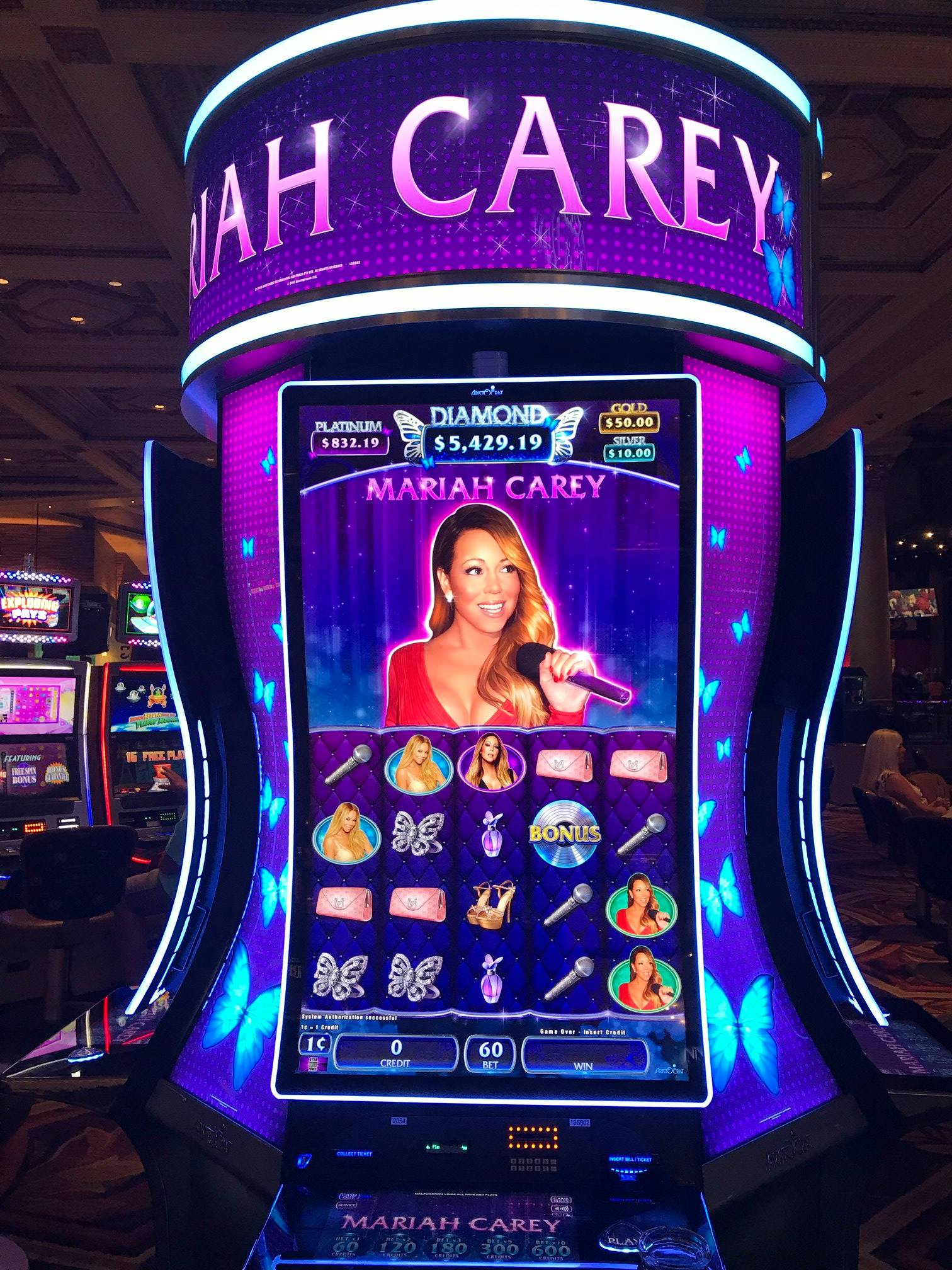 mariah carey slot machine in casino