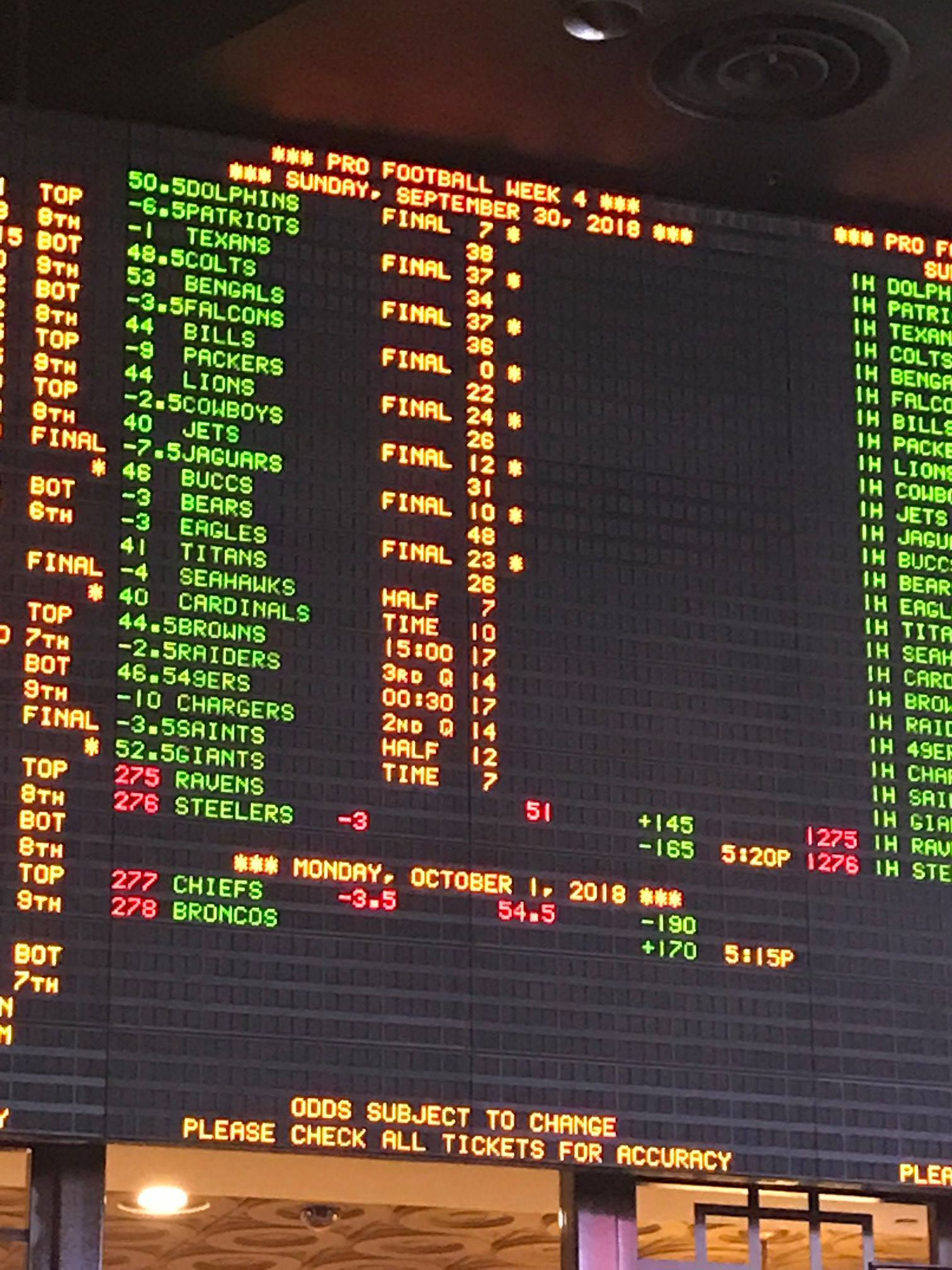 sportsbook week 4