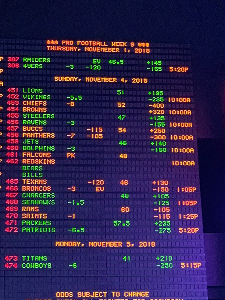 sportsbook week 9